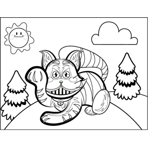Angry Striped Cat coloring page