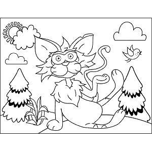 Comical Cat coloring page