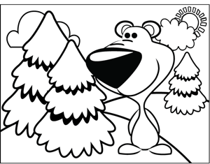 Cute Cougar coloring page