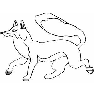 Happy Running Fox coloring page