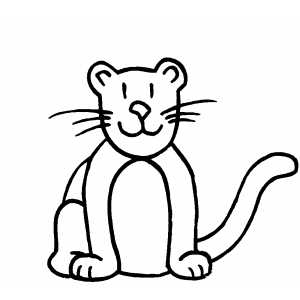 Leopard Kid coloring page