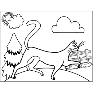 Prancing Siamese Cat coloring page