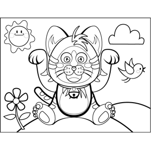 Roaring Cat coloring page