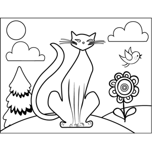 Siamese Cat coloring page