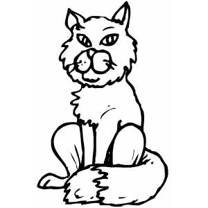 Sitting Cat coloring page