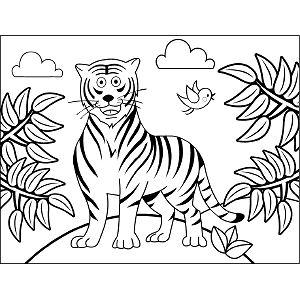 Striped Tiger coloring page