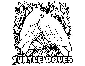 2 Turtle Doves coloring page