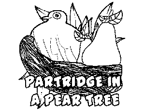 A Partridge in a Pear Tree coloring page