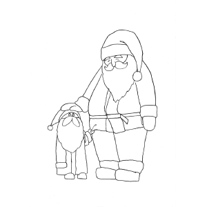 Big Santa Little Santa coloring page