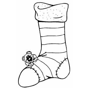 Big Stocking And Little Bear coloring page