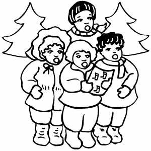 Christmas Song coloring page
