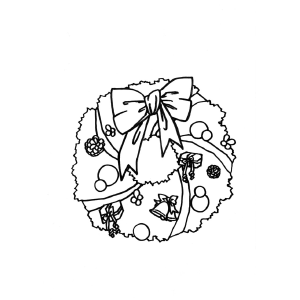 Decorated Wreath coloring page