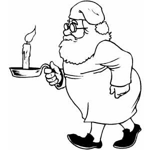 Santa Going To Bed coloring page