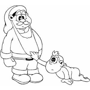 Santa Revealed coloring page