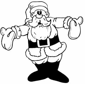 Santa Welcomes You coloring page