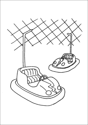Bumper Cars Coloring Page