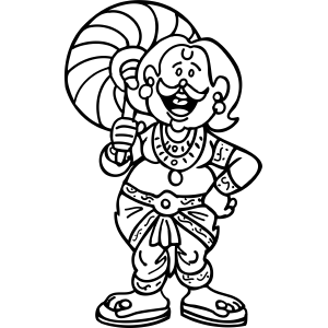 Carnival Gypsy coloring page