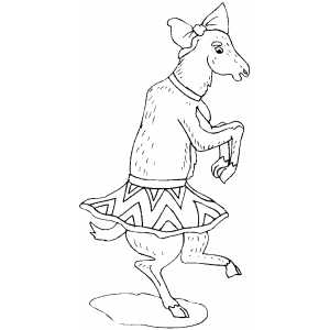 Circus Goat On Two Feets coloring page