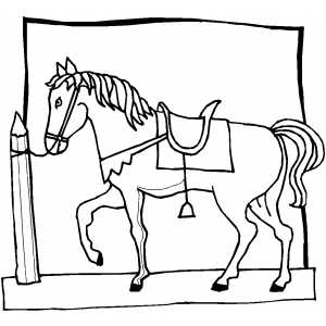 Circus Horse With Bell coloring page