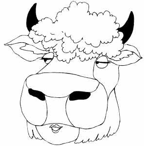 Cow Mask coloring page