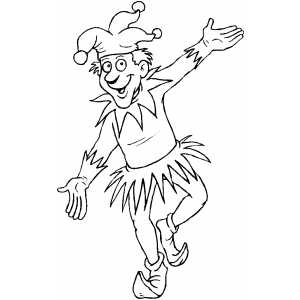 Jester Dancing coloring page