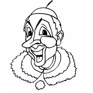 Smiling Clown coloring page