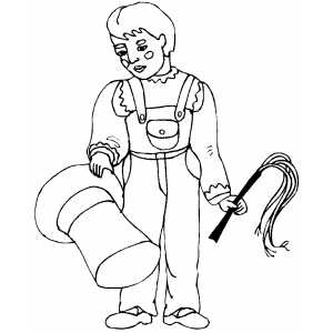 Young Animal Trainer coloring page