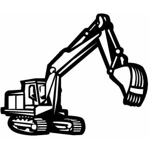 Backhoe In Work coloring page