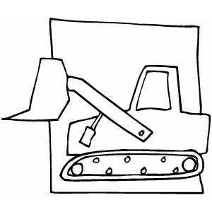 Backhoe Sketch coloring page