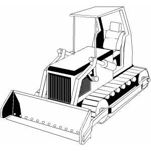 bulldozer coloring page - Bulldozer Coloring Pages