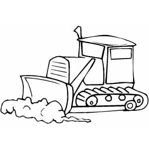Bulldozer In Work coloring page