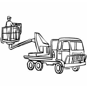 Cherry Picker coloring page