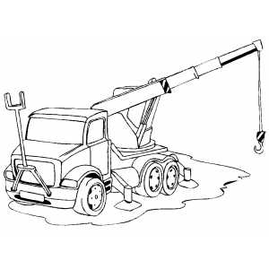 Crane In Work coloring page