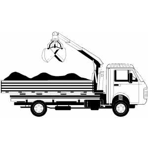 crane truck coloring page - Construction Signs Coloring Pages
