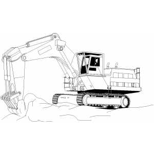 Excavation coloring page