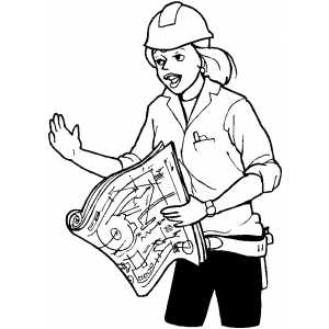 Foreman Explaine Working Plan coloring page