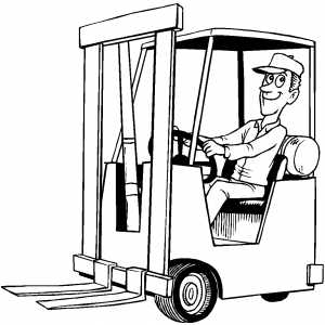 Forklift Operator coloring page