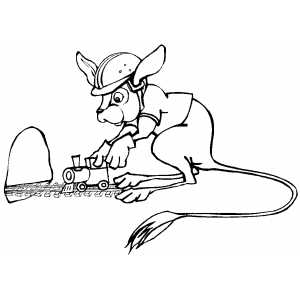 Jerboa Worker coloring page