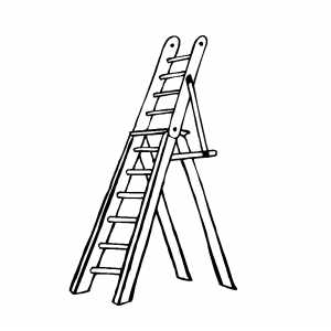 Ladder Coloring Page
