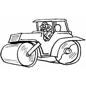 Streamroller coloring page