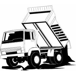 Unloaded Dump Truck coloring page
