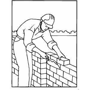 Building Wall Coloring Page
