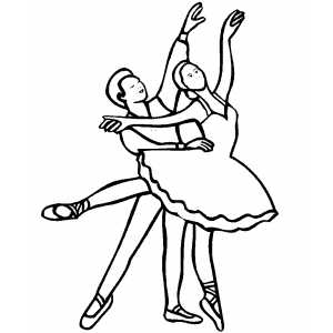 Ballet Dancing Couple coloring page