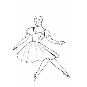 Ballet Falling Move coloring page