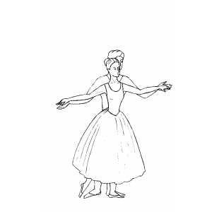 Ballet Together coloring page