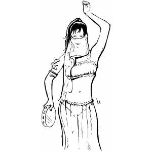 belly dancer coloring page