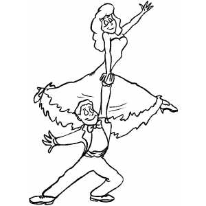 Classic Dancing coloring page
