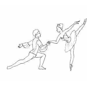 Couple Dancing Ballet coloring page