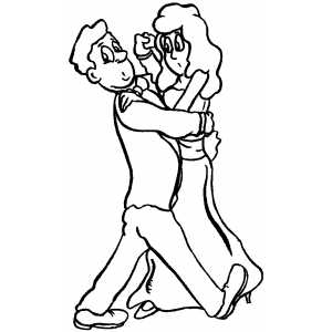 Couple In Slow Dance coloring page