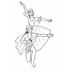 Couple Synchronous Movements coloring page